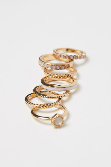 7-pack Rings - Gold-colored - Ladies | H&M CA