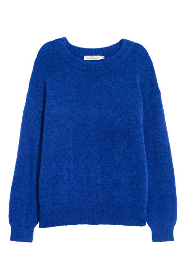 Fine-knit, wool-blend jumper - Cornflower blue - Ladies | H&M CN