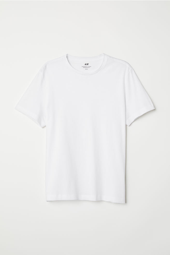 0c1c5c4c9 ... Crew-neck T-shirt Regular fit - White - Men | H&M ...