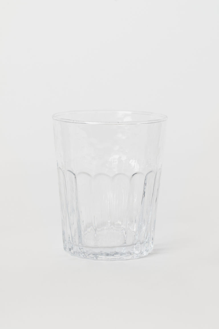 Textured tumbler - Clear glass - Home All | H&M CN