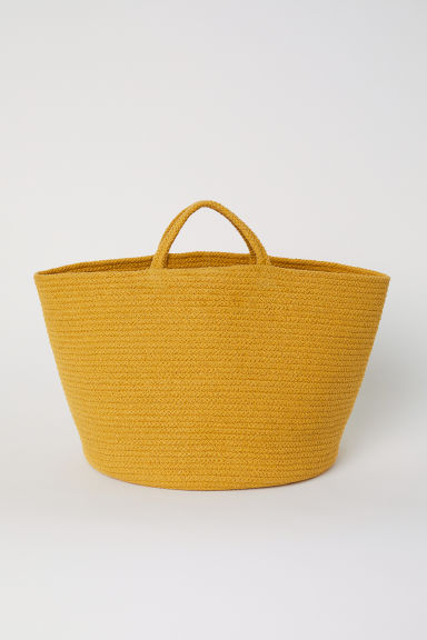 Cotton storage basket - Dark yellow - Home All | H&M CN