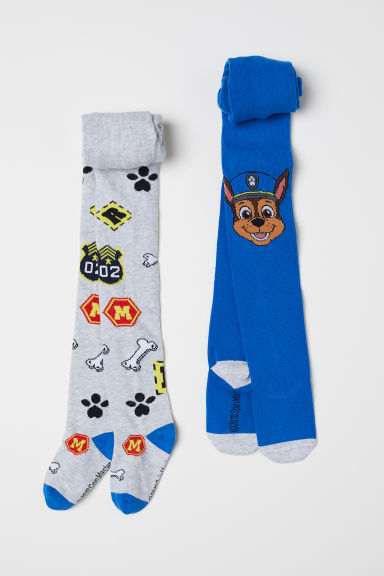 2-pack tights - Bright blue/Paw Patrol - Kids | H&M