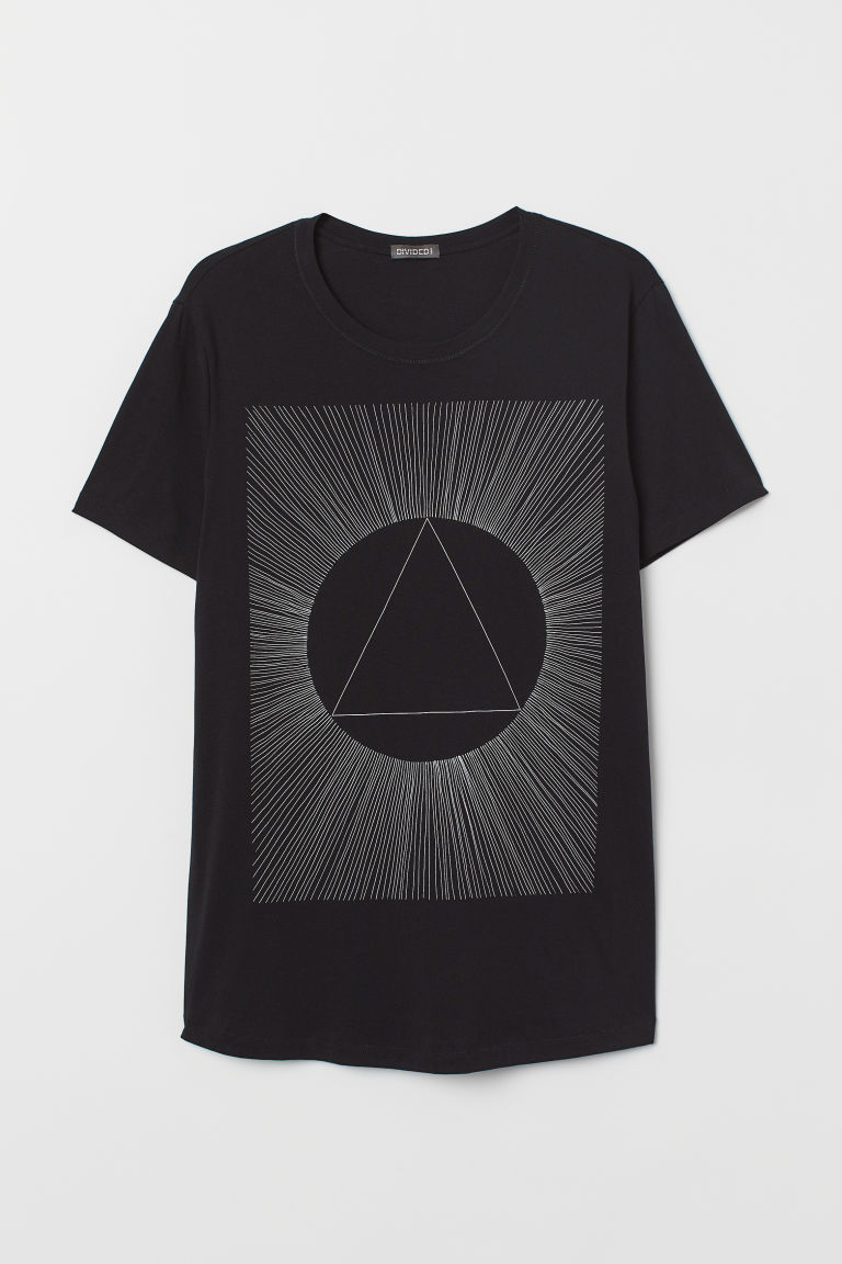 Printed T-shirt - Black - Men | H&M CN