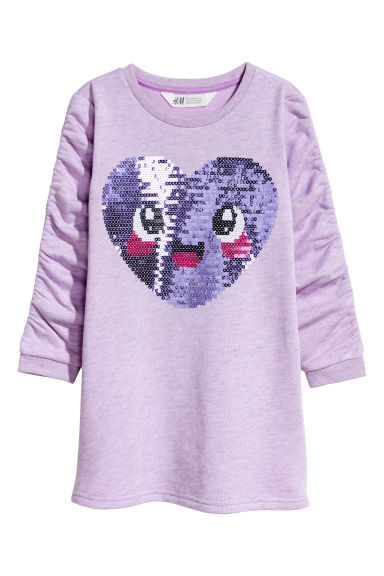 Sweatshirt dress - Light purple/Heart -  | H&M