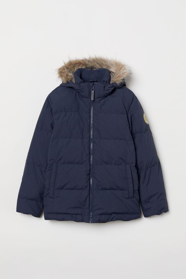 Down jacket - Dark blue - Kids | H&M