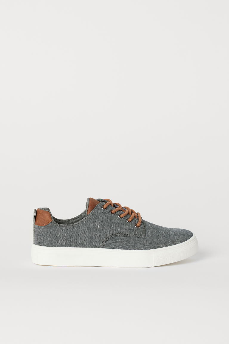 Chambray trainers - Grey - Kids | H&M