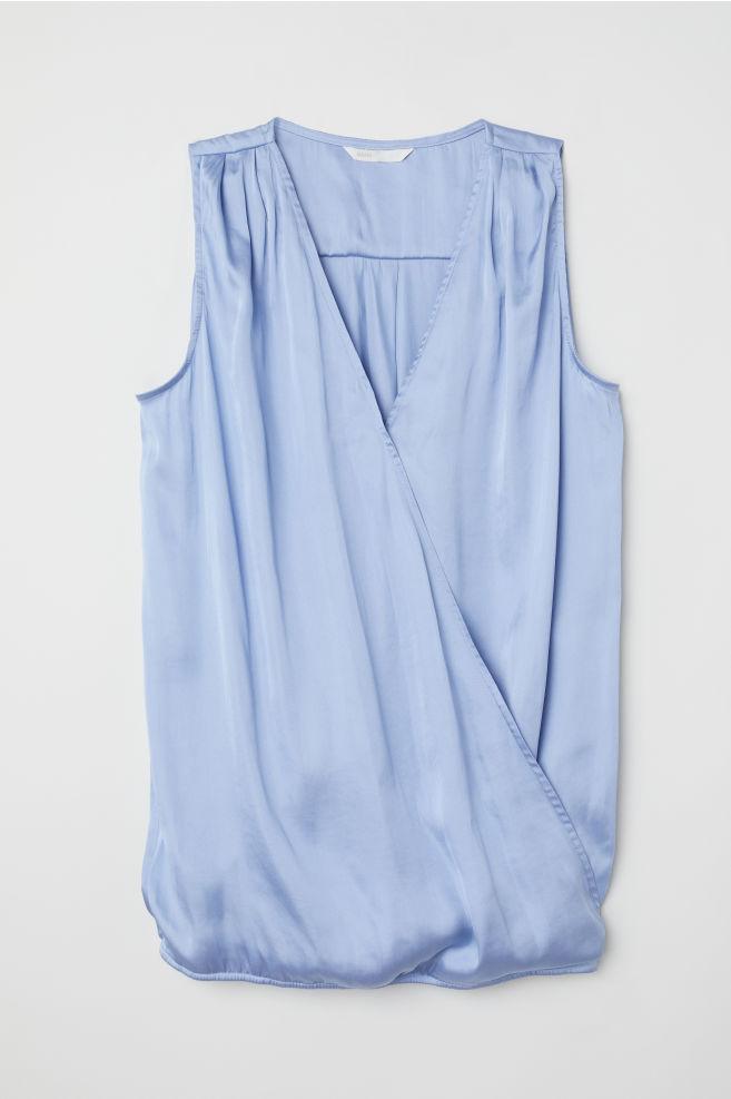 b2d58d782a5 MAMA Nursing blouse - Blue - Ladies