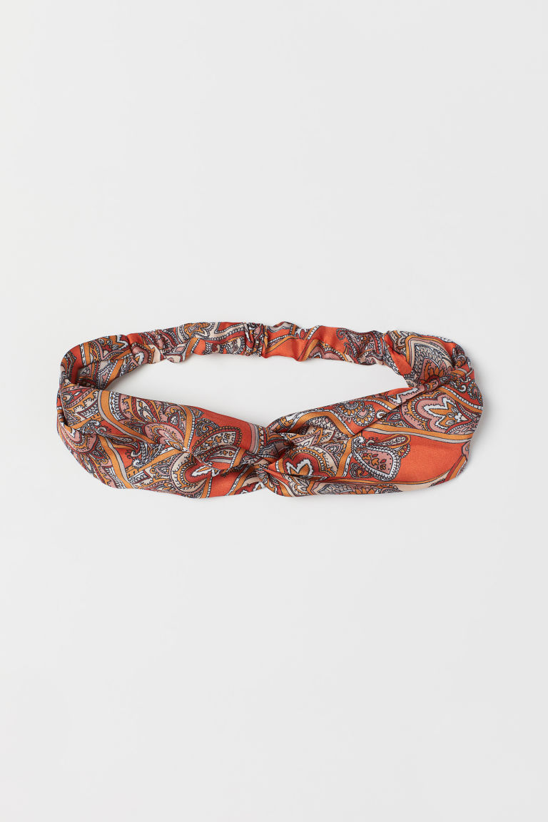 Haarband mit Knotendetail - Orange/Paisleymuster - Ladies | H&M DE