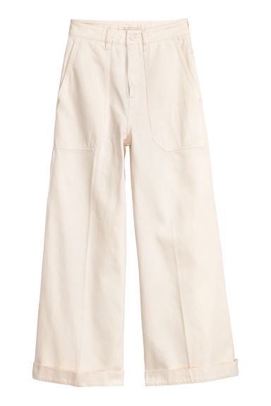 Pantaloni ampi in twill - Bianco naturale -  | H&M IT