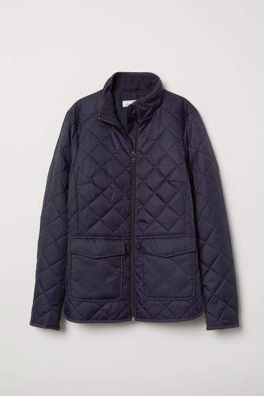 Quilted jacket - Dark blue - Ladies | H&M