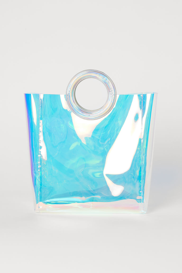 Transparent Shopper - Purple/holographic -  | H&M CA