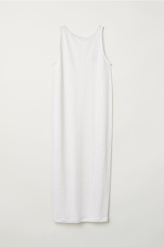 Vestido en mezcla de lino - Blanco natural - MUJER | H&M ES 4