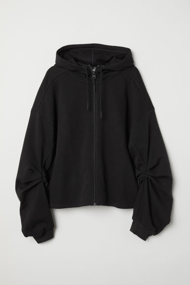 Hooded sports jacket - Black - Ladies | H&M