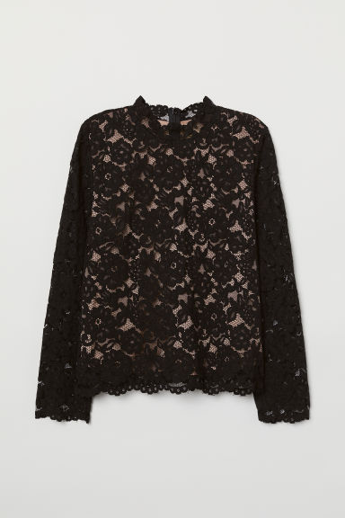 Lace top - Black - Ladies | H&M