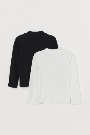 2-pack polo-neck tops