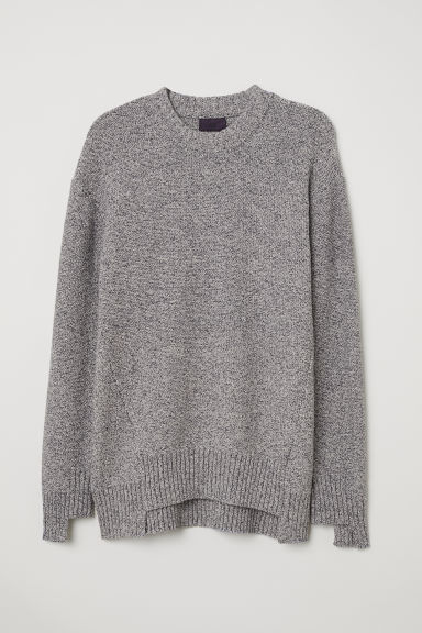 Knitted jumper - Grey marl - Men | H&M