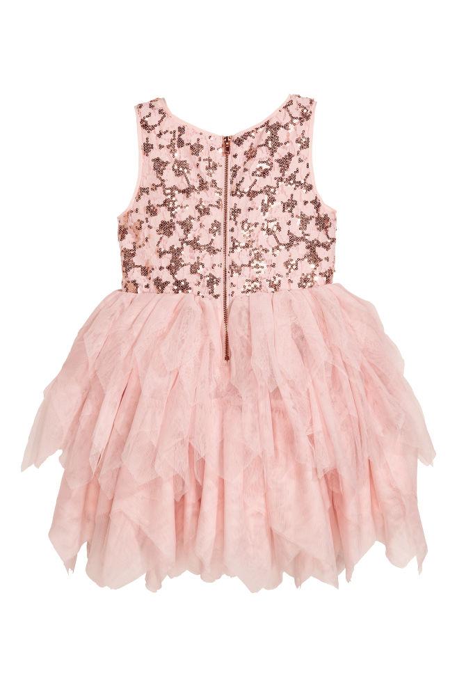 44aa5f5c0a55 Krajkové šaty s tylovou sukní - Pudrově růžová - DĚTI