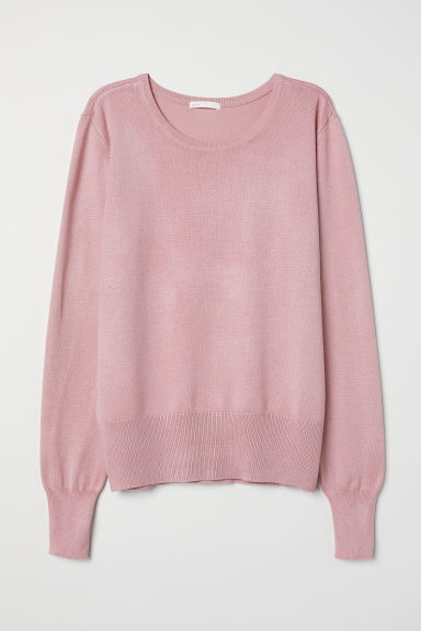 Fine-knit jumper - Pink - Ladies | H&M CN
