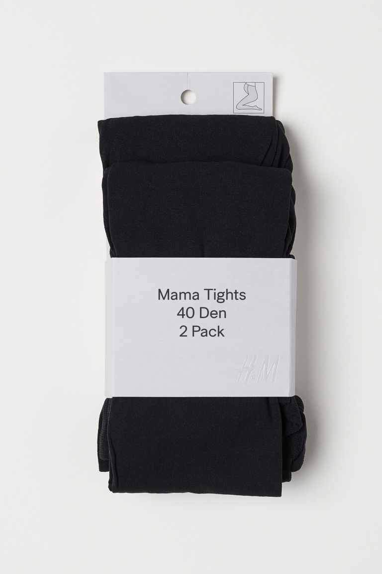 MAMA Collants 40d, lot de 2 - Noir -  | H&M BE