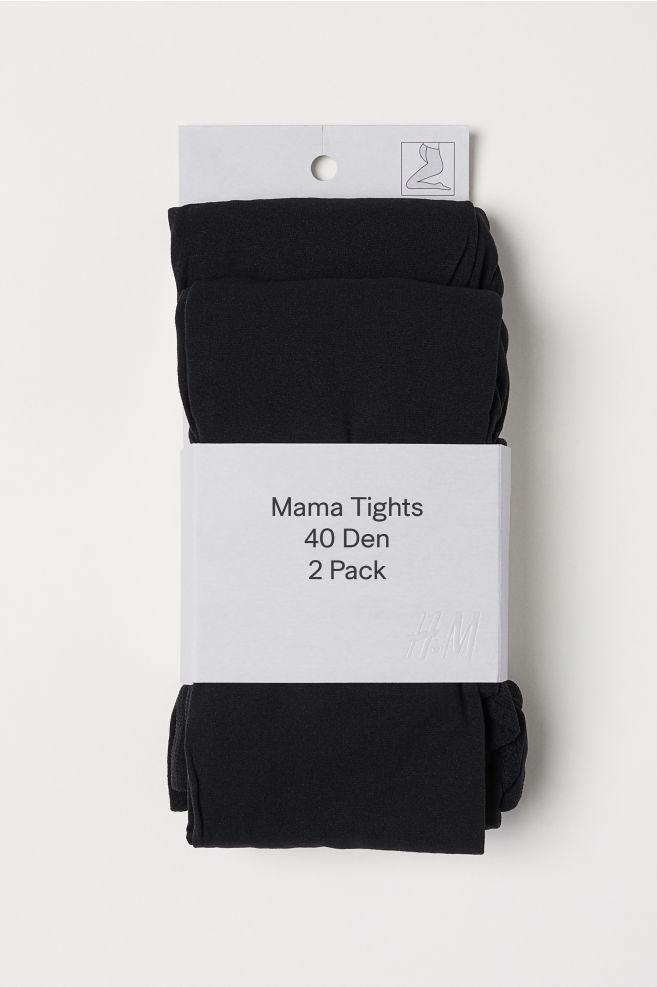 fca7699c2cdb3 MAMA 2-pack 40 Denier Tights - Black - Ladies | H&M ...