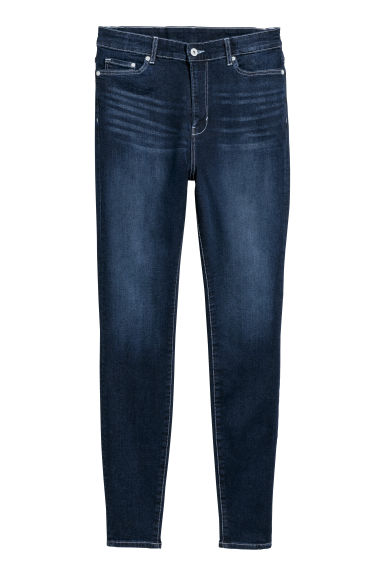 H&M+ Skinny High Jeans - Dark denim blue -  | H&M