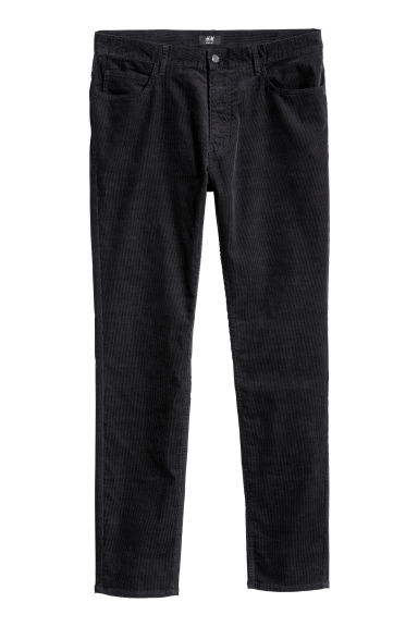 Corduroy trousers Skinny fit - Dark blue - Men | H&M CN