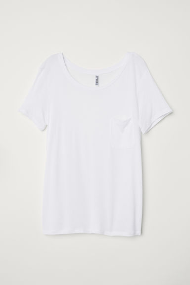T-shirt in jersey - Bianco -  | H&M IT