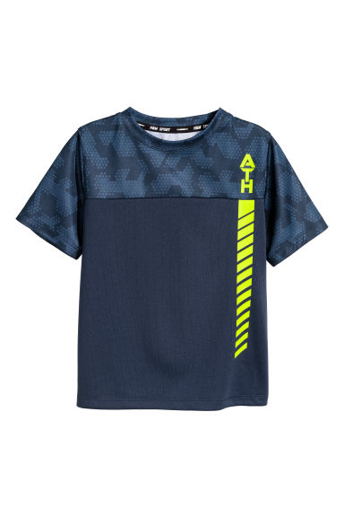 Top sportivo maniche corte - Blu scuro -  | H&M IT