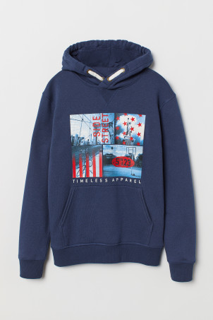 Printed hooded top