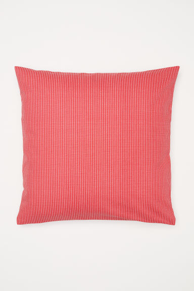 Striped cushion cover - Red/White striped - Home All | H&M US