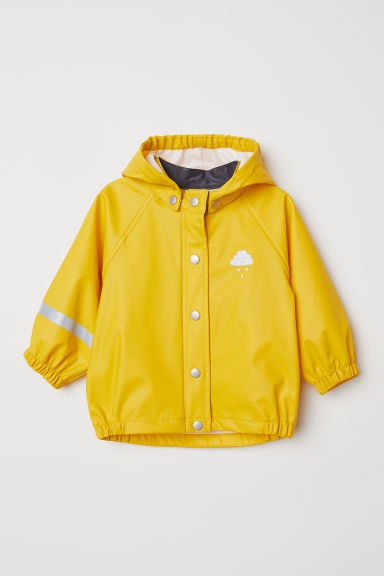 Hooded rain jacket - Yellow - Kids | H&M