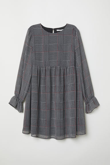 MAMA Patterned tunic - Black/Checked - Ladies | H&M