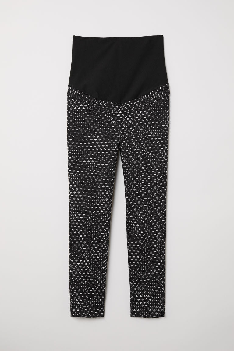 MAMA Cigarette trousers - Black/White patterned - Ladies | H&M