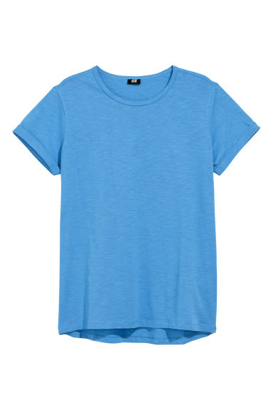 T-shirt in jersey flammé - Blu - UOMO | H&M IT
