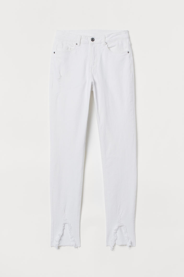 Skinny Regular Ankle Jeans - Blanc -  | H&M BE