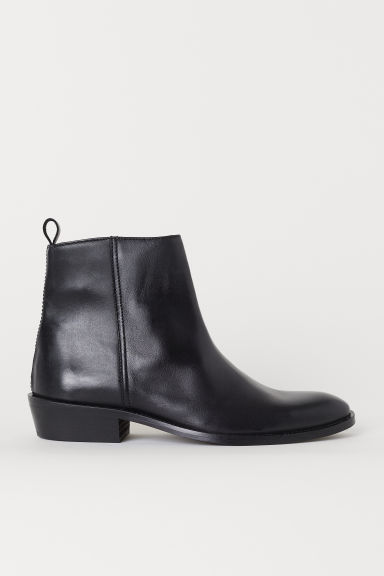Leather boots - Black - Men | H&M CN