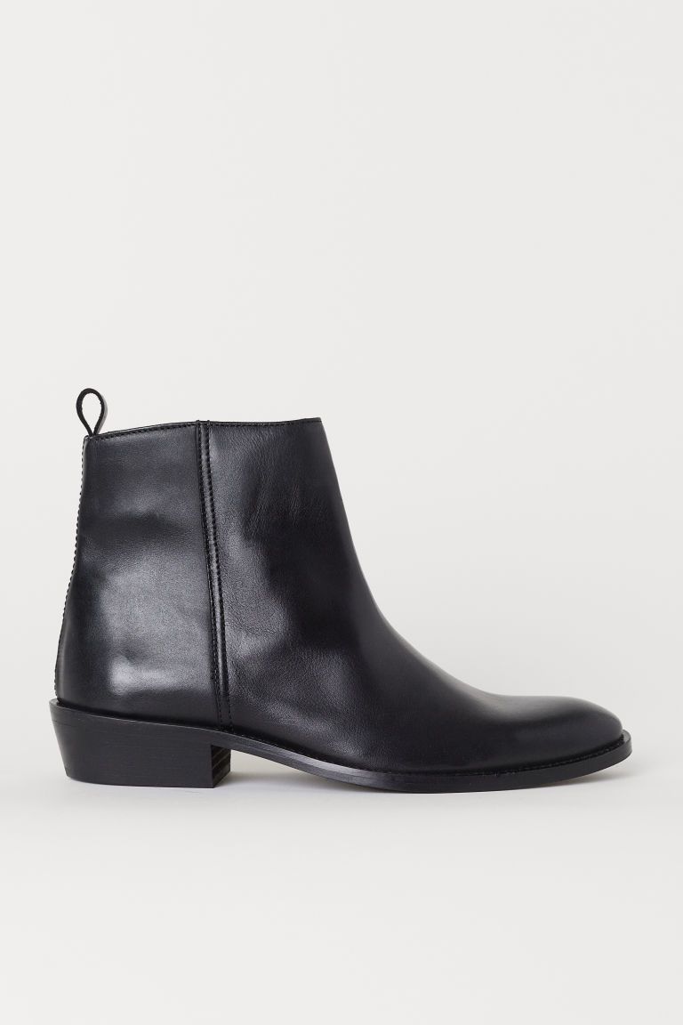 Leather boots - Black - Men | H&M