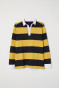 Mustard yellow/Black striped