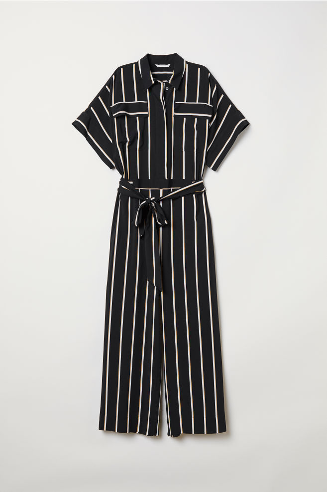c651bb8d569 Striped jumpsuit - Black Striped - Ladies