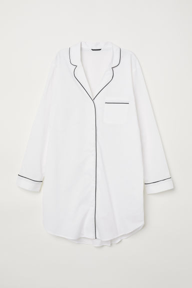 Nightshirt - White -  | H&M CN