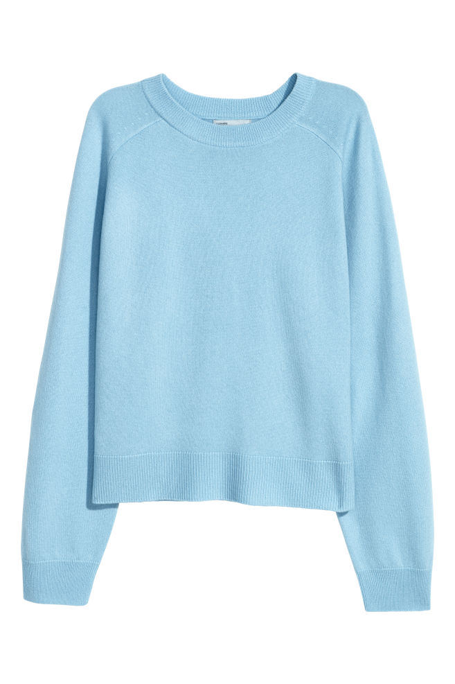 528ff9d80 Cashmere Sweater - Light blue - Ladies