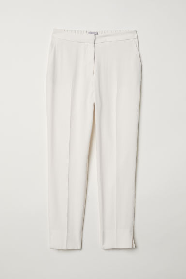 Tailored trousers - Cream -  | H&M