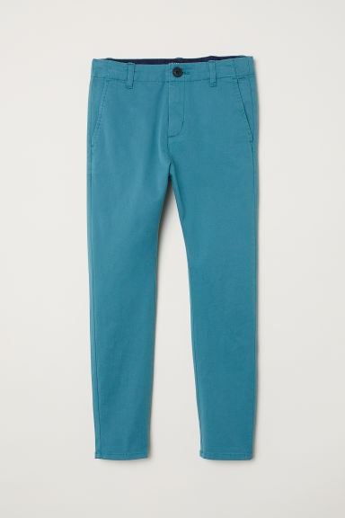 Cotton chinos - Dark turquoise -  | H&M CN