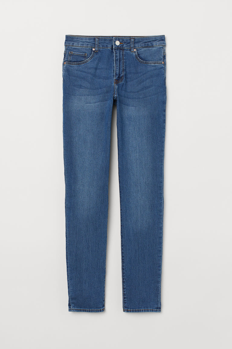 Trousers Skinny Fit - Light blue - Ladies | H&M CN