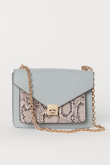 Small shoulder bag - 暗绿色/蛇纹 - Ladies | H&M CN