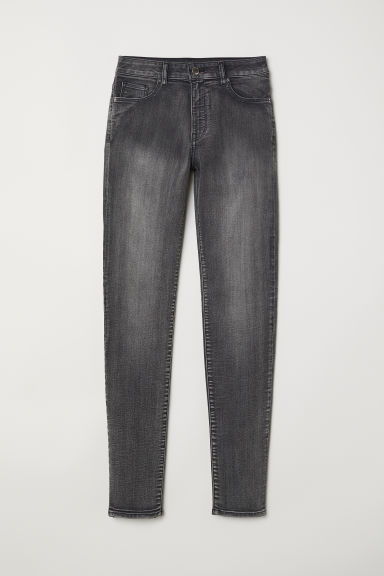 Superstretchbroek - Skinny fit - Grijs -  | H&M BE