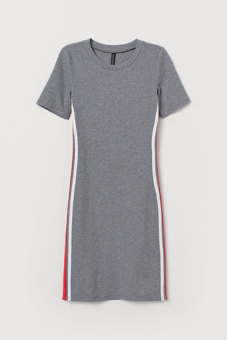 Jersey dress - Grey marl -  | H&M GB
