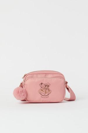H&M 키즈 해리포터 크로스가방 Printed Shoulder Bag,Pink/rose gold