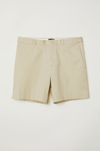 Cityshort - Slim fit - Beige - HEREN | H&M BE