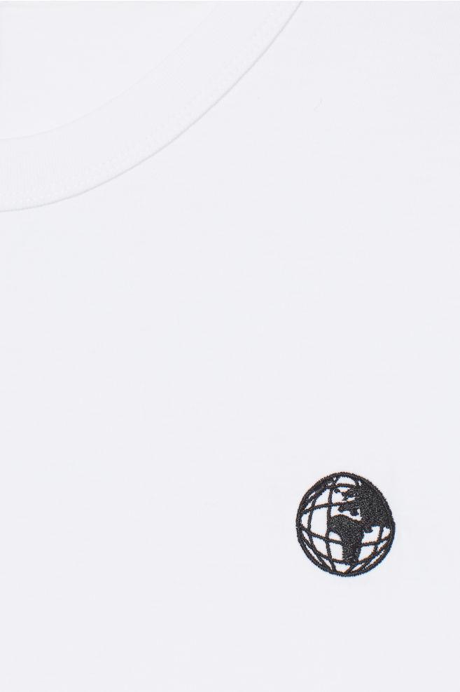 4c6b2fe940c ... Cotton Jersey T-shirt - White globe - Men